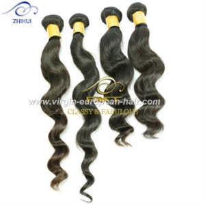 China New fashion full cuticle virgin hair strong vitality 18 inch brazilian loose wave hair weave on sale