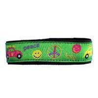 Girls Medical Sportsbands Retro VW bug Peace Slider Medical Id sportsband Bracelet