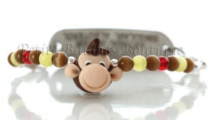 China Boys Medical ID bracelets Boys CUrious George Monkey Medical ID Alert Bracelet on sale