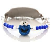 China Boys Medical ID bracelets Cookie Monster Medical ID alert Bracelet on sale