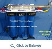 China Big Blue 20 Water Filter - Triple 1 Ports - 2 Carbons and 1 Sediment - 12 GPM UV on sale