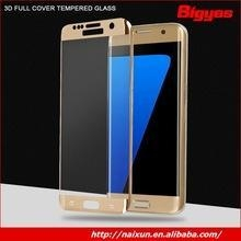 China Hot sale high quality smart phone 3D tempered glass screen protector manufacturer for Samsung S6 on sale