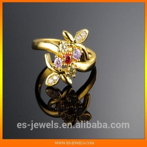 China Jewelry Gold Rings With Diamonds Jewelry Gold Ring Gold Plated Fantasy Jewelry KJ018 on sale