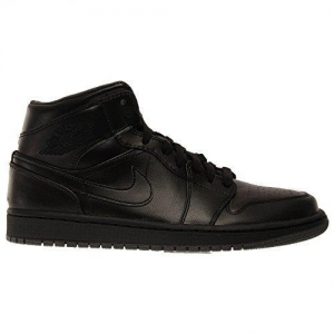 China Nike Men's Air Jordan 1 Mid Black/black/dark Grey Basketball Shoe - 10.5 D(m) Us on sale