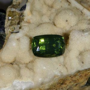 China Green Tourmaline  3.4 carats, cushion cut 150.00 on sale
