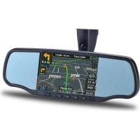 Rearview Mirror with GPS Navigation and Bluetooth