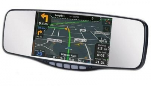 China Clip-On Rearview Mirror with GPS Navigation and Bluetooth on sale