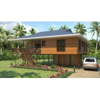 China Heat Insulation Prefab Home Beach Bungalows , Customized Light Steel Bungalow on sale