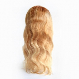 China Hair Piece For Women Blenched Color Mono And PU Around Virgin European Hair on sale