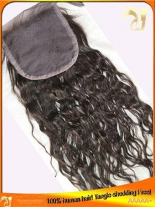China Indian Virgin Human Hair Lace Closure,Middle,Free,3 Part on sale