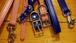 China Dog Collars & Leashes PINK Rolled Dog Collar on sale