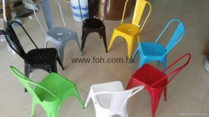 China Rustic Vintage Industrial Style Wholesale Metal Cafe Chair on sale