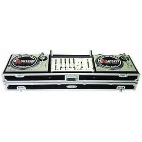 China ODYSSEY 19 DJ TURNTABLE CONSOLE WITH ROLLING WHEELS on sale