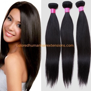 China Lightweight Virgin Brazilian Straight Hair , Real Brazilian Hair Extensions Double Weft on sale