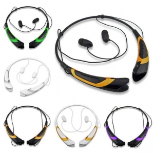 China Best Dual-color Wireless Bluetooth Sport Neckband Headphones With MIC on sale