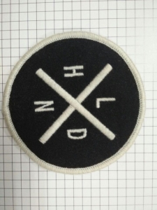 China woven patch with paper backing on sale
