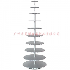 China Aluminum alloy frame round cake stand 10 layer 6 to 24 inches The wedding cake 1 mm thick on sale