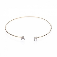 Bracelets Initial Diamond Bangle Bracelets