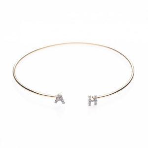 China Bracelets Initial Diamond Bangle Bracelets on sale
