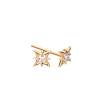 Diamond and Gold Starburst Earrings