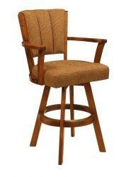 China CR Joseph 3590 Swivel Counter Height Wood Bar Stool 26 on sale