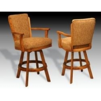"I.M. David 3598 24"" or 26"" Counter Height Swivel Bar Stool with Arms"