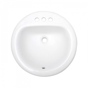 China Drop-in Sink Small Round Ceramic Drop in Bathroom Sink, SS-O1919 on sale