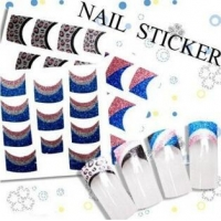 China 170 Designs French Glitter NAIL Art 3D Stickers JC001--JC135/HS001--HS060 Item48-4 on sale