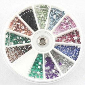 China 12 Varied Shapes12 Color Nail Art Rhinestone Gem In Big Wheel Item42-14 on sale