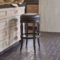 Ambella Home Collection Ambella Rochelle Swivel Counter Stool - Armless/Backless
