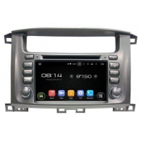 In-Dash Car Navigation Stereo Android OS Navigation Radio Toyota Land Cruiser 100 Series
