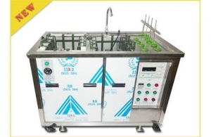 China Double grooves ultrasonic cleaning machine on sale