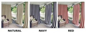 China Highland Stripe Indoor Outdoor Window Panels by Elrene Home Fashions on sale