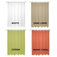 Chevron Weave Cotton Shower Curtain by Carnation Home Fashions