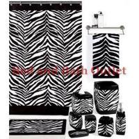 Zebra Black/White Bath Ensemble by Creative Bath Products