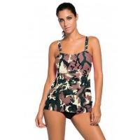 Camouflage Print 2pcs Swing Tankini Swimsuit LC41933-22