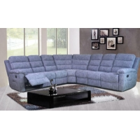 China Cozy Fabric Contemporary Sectionals With Reciners on sale