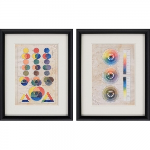 China Framed Art Colour Chart I Pk/2 on sale