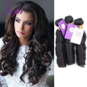 China Virgin 6A Grade Indian Spring Curl Weave Hair Weft On Sale on sale