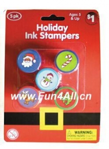China Seasonal Toys Holiday Mini Stampers 5PK on sale