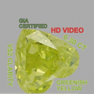 China GIA CERTIFIED 0.30 Cts Natural Loose Diamonds Greenish Yellow Color VS2 L3635 on sale