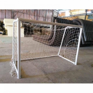 China Aluminum portable soccer goal 2.25x1.5M football goal with wheels on sale