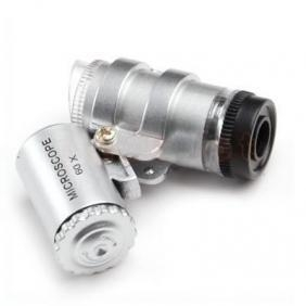 China Jewellers Loupes Jeweller LED 60x Magnifier Mini pocket zoom Microscope--UV+DayLight on sale