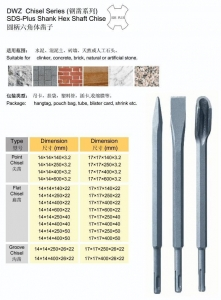 China SDS PLUS Shank Hex Shaft Chisel on sale