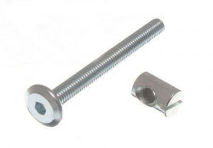 China 10 Of Furniture Cot Bed Bolt Allen Head With Barrel Nut 6Mm M6 X 60Mm Zp on sale