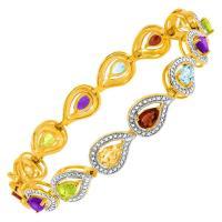 China 4 7/8 ct Multi Semi-Precious Stone Bracelet with Diamonds - Designers on sale