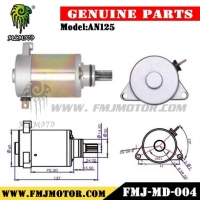 China High Quality Chinese Scooter AN125 Motorcycle Starter Motor on sale