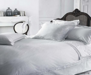 China White Embroided Duvet on sale