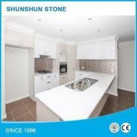 Pure White Engineered Quartz Stone Kitchen Benchtops Worktops