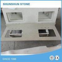 Pre Cut Beige Color Quartz Stone Bathroom Vanities